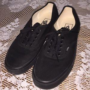 Vans low-top canvas lace up shoes SZ 10 womens